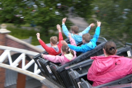 Camping at Drayton Manor campsite, with days out at DraytonManor Thomasland and Cadbury World camping3-thomasland06