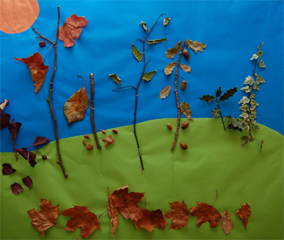 Autumn Craft Picture - kids crafts