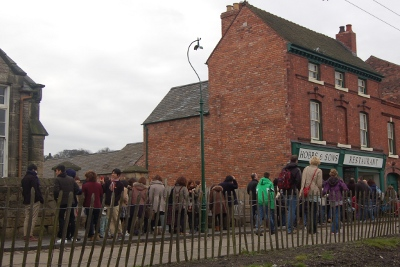 Queuing for Fish and Chips at the Black Country Museum