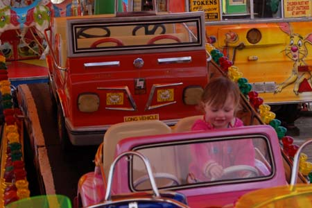 Blackpool Pier funfair car ride
