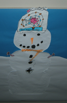 Christmas snowman craft picture