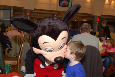 Meeting Mickey Mouse at Cafe Mickey - Disney Village Disneyland Paris