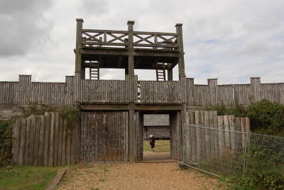 Entrance to the Lunt Roman fort at Coventry
