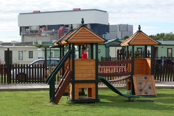 Children's playground at Ocean Edge Caravan park Heysham (near Morecambe)
