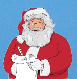Santa and his Christmas to-do list