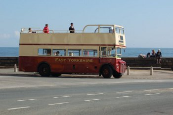 East Yorkshire open top bus at Scarborough Sea Front