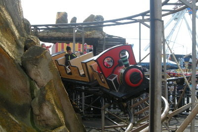 Skegness funfair - train ride