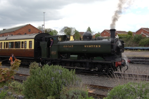 Steam train at Kidderminster on the Severn Valley Railway